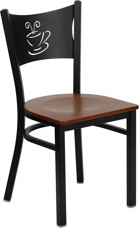 Coffe Black Metal Chair