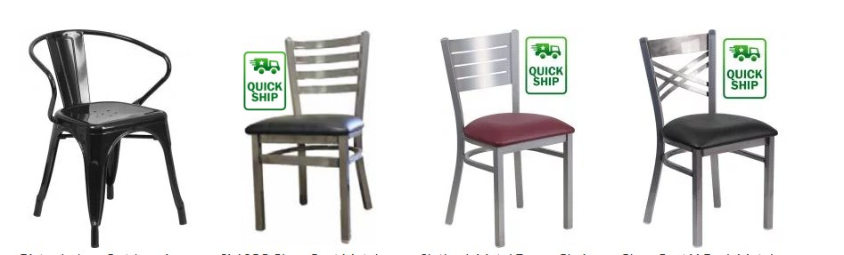 Metal Restaurant Chairs