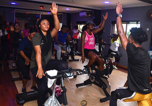 celebrity fitness center in Nigeria